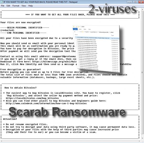 Scarab Ransomware remove